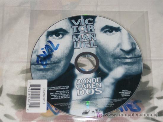 MUSICA GOYO - CD SINGLE - VICTOR MANUEL - DONDE CABEN DOS - *LXXX99 (Música - CD's Melódica )