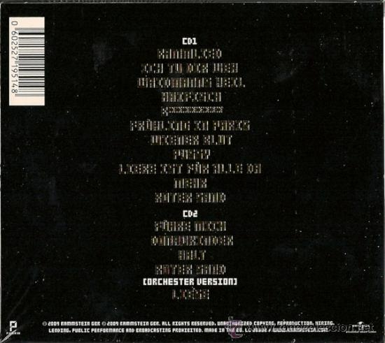 Rammstein 2 Cd Liebe Ist Fur Alle Da Delu Sold Through