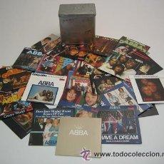 CDs de Música: ABBA /SINGLES COLLECTION 1972-1982 EUROVISION 25TH ANNIVERSARY UK 29-CD SINGLES/ CAJA METALICA. Lote 17923397