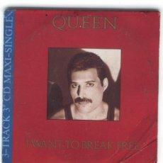 CDs de Música: QUEEN / I WANT TO BREAK FREE/ CD SINGLE DE 3 PULGADAS EN PORTADA DE CARTONCILLO. Lote 18023877
