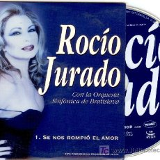 CDs de Música: ROCIO JURADO - CD SINGLE - SE NOS ROMPIO EL AMOR CON ORQ. BRATISLAVA - PROMOCIONAL - NUEVO - RARO. Lote 54400678