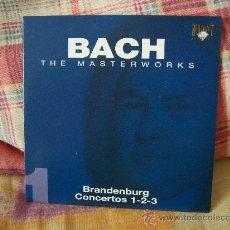 CDs de Música: JOHANN SEBASTIAN BACH BRANDENBURG CONCERTOS 1, 2 & 3 ROBERT HAYDON CLARK. Lote 18441876
