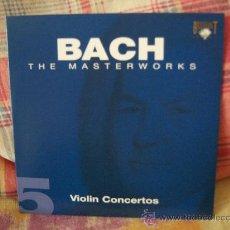 CDs de Música: JOHANN SEBASTIAN BACH VIOLIN CONCERTOS BWV 1041, 1042, 1052 & 1056 CONCERTO FOR 3 VIOLINS, STRINGS &. Lote 18518703