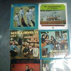 CDs de Música: LOTE DE 11 DISCOS ANTIGUOS , MARISMEÑOS, ROMEROS DE LA PUEBLA, AMIGOS DE GINES. Lote 26826789