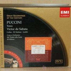 CDs de Música: TOSCA - PUCCINI - MARIA CALLAS - GIUSEPPE DI STEFANO - TITO GOBBI - VICTOR DE SABATA - NUEVO - OPERA. Lote 26873383