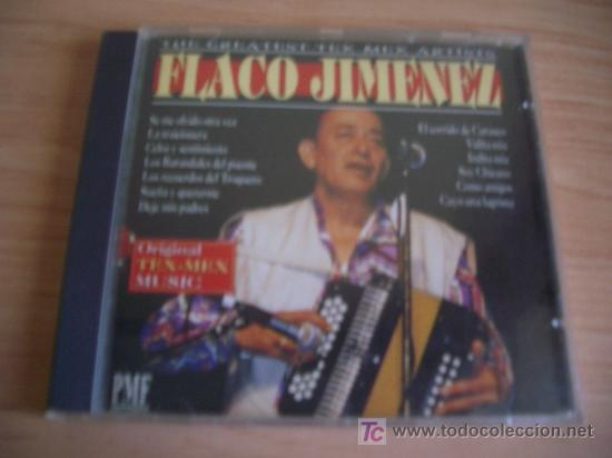 FLACO JIMENEZ. THE GREATEST TEX-MEX ARTISTS. CD 1994 (Música - CD's Country y Folk)