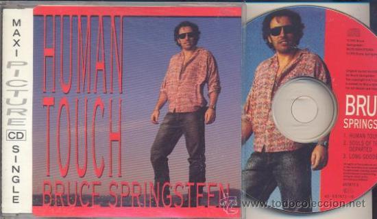 BRUCE SPRINGSTEEN - HUMAN TOUCH - PICTURE DISC CD SINGLE ESPAÑOL CON 3 CANCIONES (Música - CD's Rock)