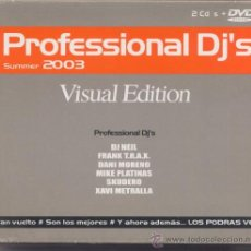 CD de Música: PROFESSIONAL DJ´S,VISUAL EDITION DEL 2003 2CD+1DVD. Lote 21271589