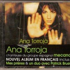 CDs de Música: ANA TORROJA CD 2001 ED. DE COLECCIÓN - EXCL. FRANCIA - NUEVO ( MECANO ). Lote 26670916