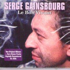 CDs de Música: SERGE GAINSBOURG - LE BON VIVANT ( DOBLE CD ) JAZZ,POP, LOUNGE..... Lote 22439768