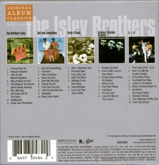 CDs de Música: ISLEY BROTHERS * BOX 5CD *ORIGINAL ALBUM CLASSICS * CAJA DURA CON SUS MEJORES 5 ÁLBUMES * PRECINTADO - Foto 2 - 27273521