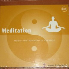 CDs de Música: MEDITATION - MUSIC FOR HARMONY & BALANCE - DOS CD´S. Lote 27268395