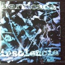 CDs de Música: BARRICADA - INSOLENCIA - CD SINGLE - PROMO - POLYGRAM - 1996. Lote 23208605