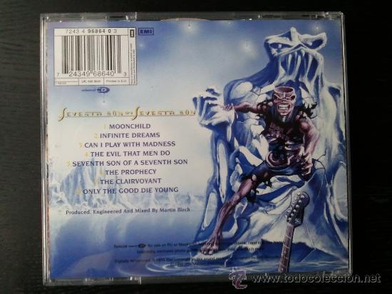 CDs de Música: IRON MAIDEN - SEVENTH SON OF A SEVENTH SON - DOBLE CD ALBUM - 1998 - Foto 5 - 27342235
