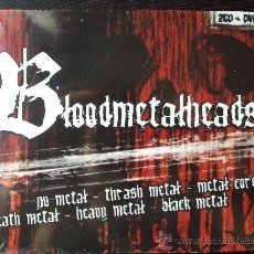 CDs de Música: BLOODMETALHEADS - DOBLE CD ALBUM + DVD - DIVUCSA - 2005. Lote 26939666