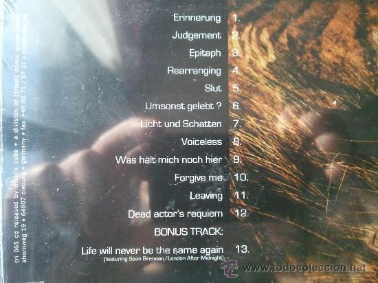 CDs de Música: L´AME IMMORTELLE - DANN HABE ICH UMSONST GELEBET - CD ALBUM - MATRIX CUBE - Foto 4 - 26805709