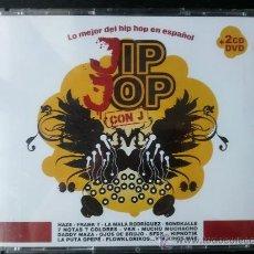 CDs de Música: JIP JOP CON J - LO MEJOR DEL HIP HOP EN ESPAÑOL - 2 CD + DVD - DIVUCSA - 2006. Lote 27201888