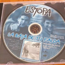 CDs de Música: ESTOPA - LA RAJA DE TU FALDA ( CD SINGLE PROMO ). Lote 23802895