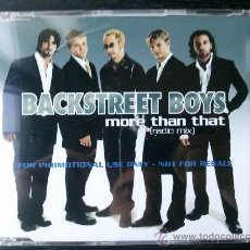 CDs de Música: BACKSTREET BOYS - MORE THAN THAT - CD SINGLE - PROMO - ZOMBA - 2001. Lote 24296894