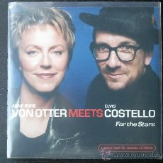 CDs de Música: ANNE SOFIE VON OTTER MEETS ELVIS COSTELLO - FOR THE STARS - CD SINGLE PROMO - 3 TRACKS - 2001. Lote 24335590