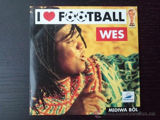 WES - I LOVE FOOTBALL - CD SINGLE - PROMO - 2 TRACKS - SONY - 1998 (Música - CD's World Music)