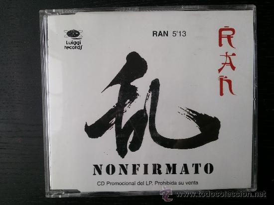 NONFIRMATO - RAN - CD SINGLE - PROMO - LUIGGI - 1995 (Música - CD's New age)
