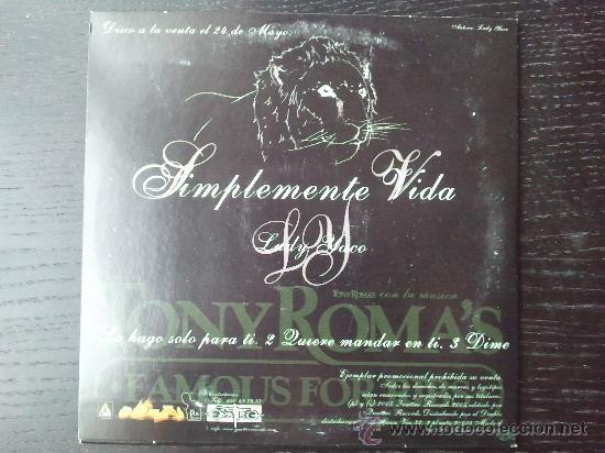 CDs de Música: LADY YACO - SIMPLEMENTE VIDA - CD SINGLE - PROMO - QUATTRO - 2005 - Foto 2 - 24416897