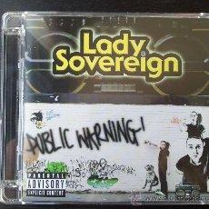CDs de Música: LADY SOVEREIGN - PUBLIC WARNING! - CD ALBUM - ISLAND - 2006. Lote 24823354