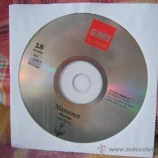 CDs de Música: MASSENET WERTHER (HIGHLIGHTS) ALFREDO KRAUS. Lote 26615444