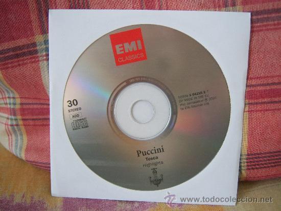PUCCINI TOSCA (HIGHLIGHTS) RENATA SCOTTO (Música - CD's Clásica, Ópera, Zarzuela y Marchas)