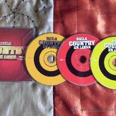CDs de Música: COUNTRY,BAILA EN LINEA-BACK TO TEXAS-NASHVILLE COUNTRY CLUB-. Lote 24999120