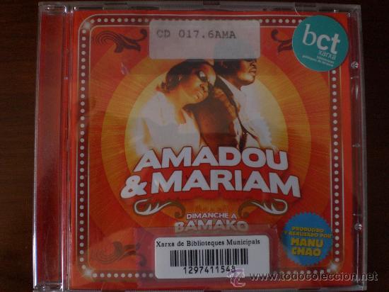 MAMADOU & MARIAM. DIMANCHE A BAMAKO. PRACTICAMENTE NO USADO. (Música - CD's Otros Estilos)