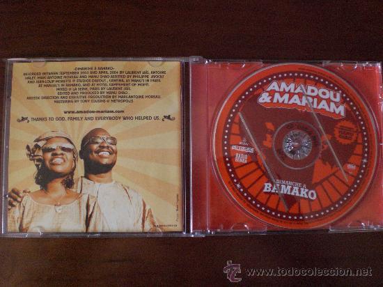 CDs de Música: MAMADOU & MARIAM. DIMANCHE A BAMAKO. PRACTICAMENTE NO USADO. - Foto 2 - 26921793