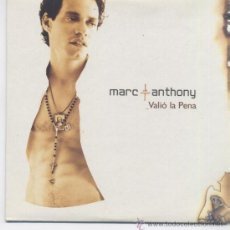 CDs de Música: MARC ANTHONY,VALIO LA PENA CD SINGLE DEL 2004 PROMO. Lote 25928271