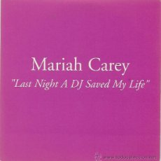 CDs de Música: MARIAH CAREY. LAST NIGHT A DJ SAVED MY LIFE (PROMO CD-SINGLE 2001 ). Lote 25933094