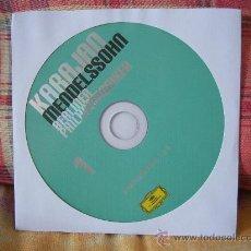 CDs de Música: MENDELSSOHN SYMPHONIES NOS. 1 & 5 KARAJAN. Lote 26260459
