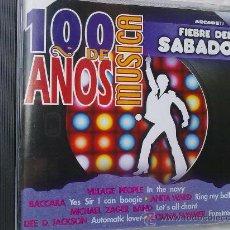 CDs de Música: CIEN AÑOS DE MUSICA - FIEBRE DEL SABADO (1999). Lote 26321257