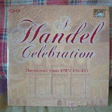 CDs de Música: HANDEL HARPSICHORD SUITES HWV 430-433 MICHAEL BORGSTEDE. Lote 26841231