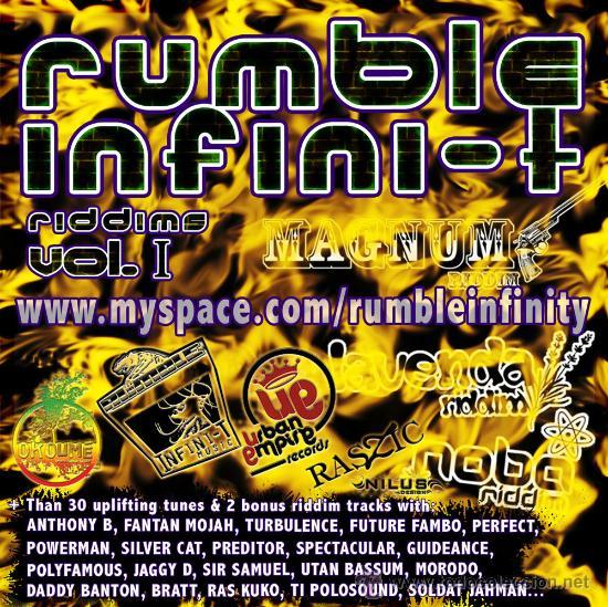 RUMBLE INFINI-T * 2CD * MUSIC RIDDIMS VOL 1 * EL MEJOR RAGGA / DANCE HALL * RARO * PRECINTADO!! (Música - CD's Reggae)