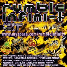 CDs de Música: RUMBLE INFINI-T * 2CD * MUSIC RIDDIMS VOL 1 * EL MEJOR RAGGA / DANCE HALL * RARO * PRECINTADO!!. Lote 27051356