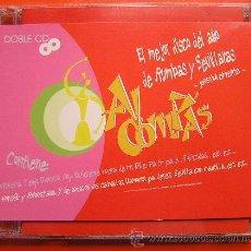 CDs de Música: DOBLE CD EL MEJOR DISCO DEL AÑO DE RUMBAS Y SEVILLANAS. AL COMPAS. Lote 32987701