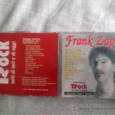 CDs de Música: FRANK ZAPPA-LIVE STOCKHOLM 1967-MONTREUX 1971-IL DIZIONARIO DEL ROCK MITI DI IERI E DI OGGI-1991-. Lote 27374965