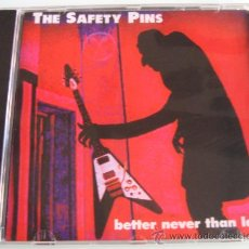 CDs de Música: THE SAFETY PINS - BETTER NEVER THAN LATE - CD - H RECORDS - NUEVO PRECINTADO. Lote 27557343