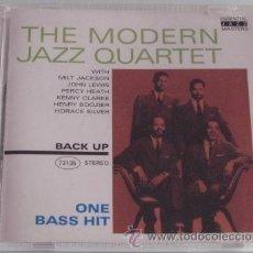 CDs de Música: THE MODERN JAZZ QUARTET - ON BASS HIT - CD - MILT JACKSON JOHN LEWIS - COMO NUEVO. Lote 27931239