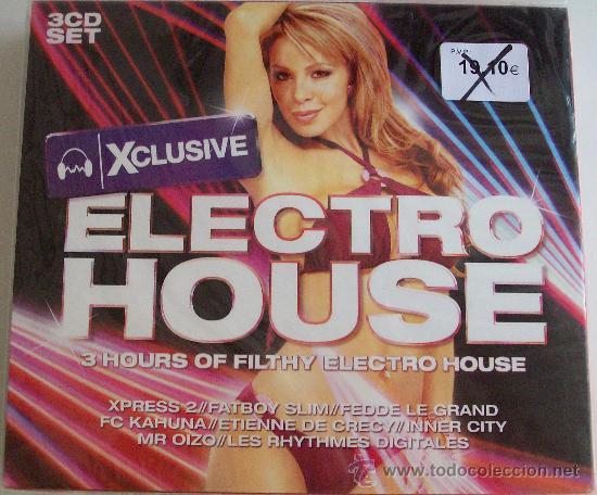 ESTUCHE DE 3 CDS DE ELECTRO HOUSE (Música - CD's Techno)
