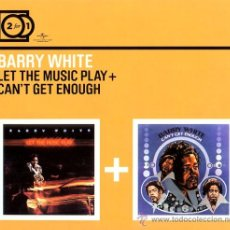 CDs de Música: BARRY WHITE * 2 CD * LET THE MUSIC PLAY + CAN'T GET ENOUGH * DIGIPACK GATEFOLD * PRECINTADO. Lote 28193585