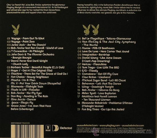 CDs de Música: BOB SINCLAR * 2CD * Live At The Playboy Mansion * LTD DIGIPACK * PRECINTADO!! - Foto 2 - 28234004