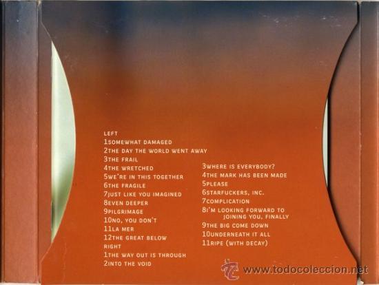 CDs de Música: NINE INCH NAILS * 2 CD * THE FRAGILE * LTD DIGIPACK * PRECINTADO!!! - Foto 5 - 107530015