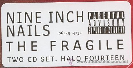 CDs de Música: NINE INCH NAILS * 2 CD * THE FRAGILE * LTD DIGIPACK * PRECINTADO!!! - Foto 8 - 107530015