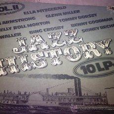CDs de Música: BOX. JAZZ HISTORY VOL 2 VARIOS ARTISTAS 10 LPS 1980. Lote 28726565